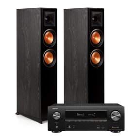 RP-5000F Floor Standing Speakers (Ebony) with Denon AVR-X1600H 7.2 Channel AV Receiver