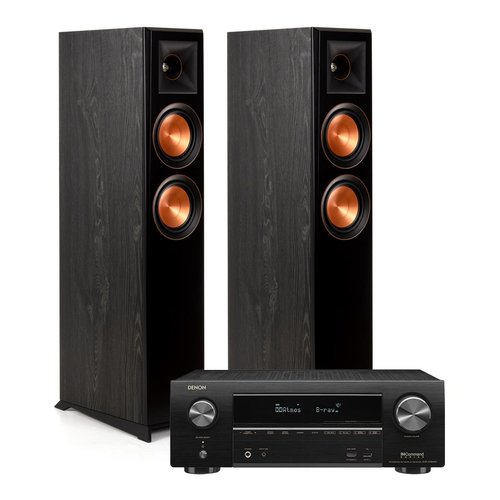 View Larger Image of RP-5000F Floor Standing Speakers (Ebony) with Denon AVR-X1600H 7.2 Channel AV Receiver
