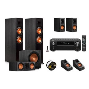 RP-6000F 7.1 Home Theater System with Denon AVR-X4700H 9.2-Channel 8K AV Receiver and World Wide Stereo 14-Gauge, 2-Conductor Speaker Wire - 100 Feet