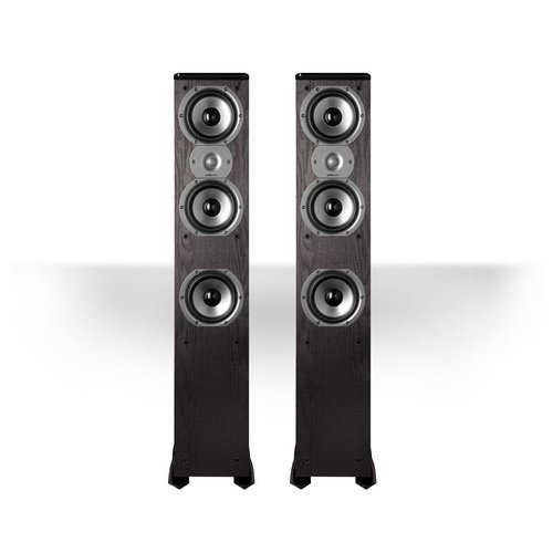"""View Larger Image of TSi400 4-Way Tower Speakers with Three 5-1/4"""" Drivers - Pair (Black)"""