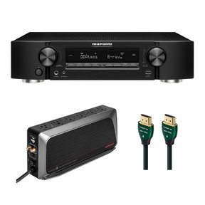 NR1711 SLIM 7.2-Channel 8K Ultra HD AV Receiver with 6-Outlet Sure Protector and 8K-10K 48Gbps HDMI Cable - 7.38 ft. (2.25m)
