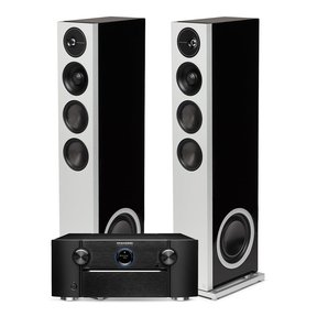 SR8015 11.2-Channel AV Receiver with Definitive Technology Demand Series D17 High-Performance Floorstanding Speakers - Pair