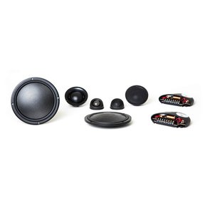 "Virtus Nano Carbon 603 6-1/2"" 3-Way Shallow-Mount Component Speakers"