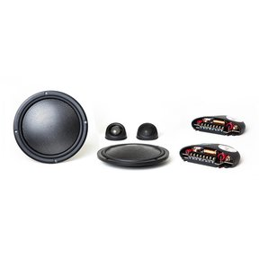 """Virtus Nano Integra 602 Carbon 6-1/2"""" Ultra-Shallow 2-Way Coaxial Speakers with External Crossovers"""