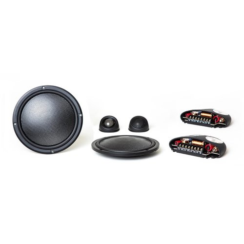 """View Larger Image of Virtus Nano Integra 602 Carbon 6-1/2"""" Ultra-Shallow 2-Way Coaxial Speakers with External Crossovers"""