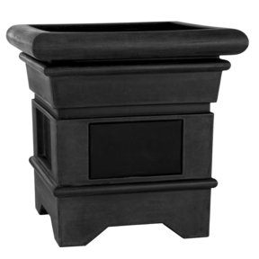 Flagstone Outdoor Residential Planter Speakers with 180-Degree Sound - Pair (Black)