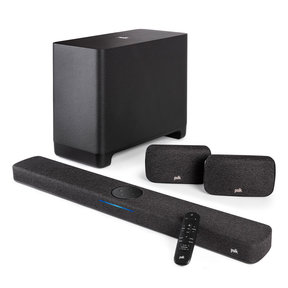 React Home Theater System with React Sound Bar, Wireless Subwoofer, and Wireless Surround Speakers