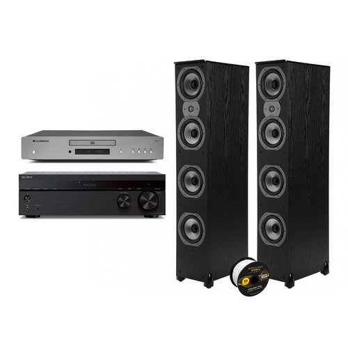 View Larger Image of TSi500 Floorstanding Speaker Pair with Sony STR-DH190 Stereo Receiver, Cambridge AXC35 CD Player, and World Wide Stereo 14-Gauge, 2-Conductor Speaker Wire - 50 Feet