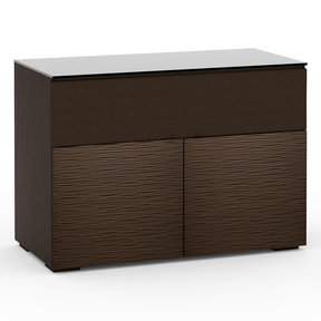Chameleon Collection Berlin 329 Twin-Width AV Cabinet with Center Grille (Textured Wenge)