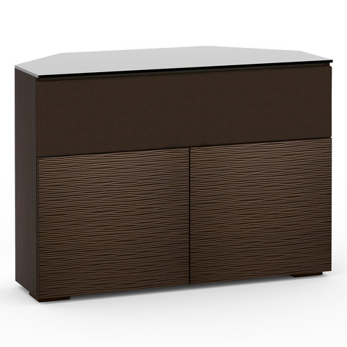 View Larger Image of Chameleon Collection Berlin 329 Twin-Width AV Corner Cabinet with Center Grille (Textured Wenge)