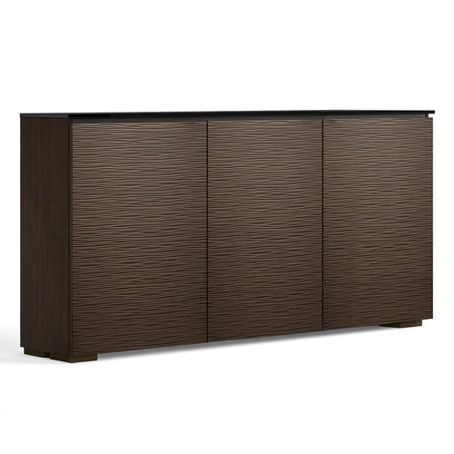 View Larger Image of Chameleon Collection Berlin Low Profile 337 Three-Bay AV Cabinet (Textured Wenge)
