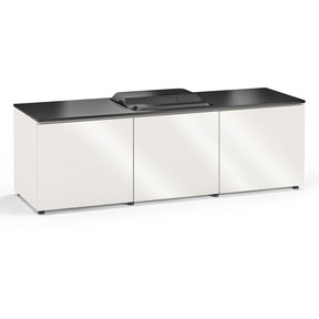 Chameleon Collection Miami 237 Projector Integrated Cabinet for Epson LS100 Projector (Gloss White)