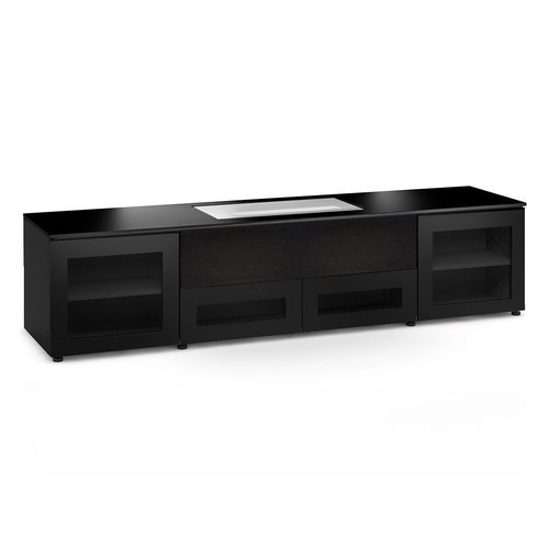 View Larger Image of Chameleon Collection Oslo 245 Projector Integrated Cabinet for LG HU85LA Projector (Black Oak)