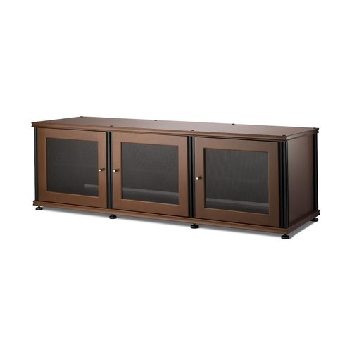 View Larger Image of Synergy 237 Triple Wide A/V Cabinet (Cherry & Black)