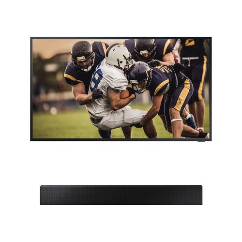 "View Larger Image of QN55LST7TA 55"" The Terrace QLED 4K UHD Outdoor Smart TV with HW-LST70T The Terrace Sound Bar"