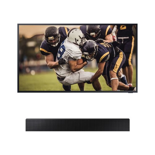 "View Larger Image of QN65LST7TA 65"" The Terrace QLED 4K UHD Outdoor Smart TV with HW-LST70T The Terrace Sound Bar"
