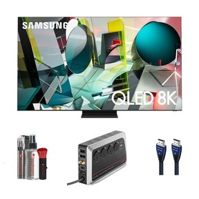 "QN75Q900TS 75"" QLED 8K UHD Smart TV with 8K-10K HDMI Cable - 7.38 ft. (2.25m), 8-Outlet Surge Protector and CleanScreen Kit"