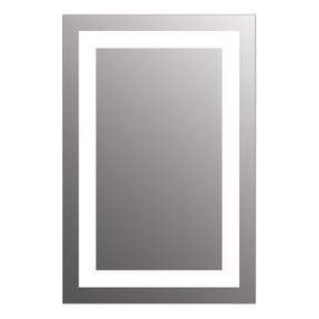 "Allegro 30"" x 36"" LED Lighted Bathroom Wall Mounted Dimmable Mirror"
