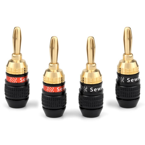 View Larger Image of Deadbolt Banana Plugs - 2 Pairs