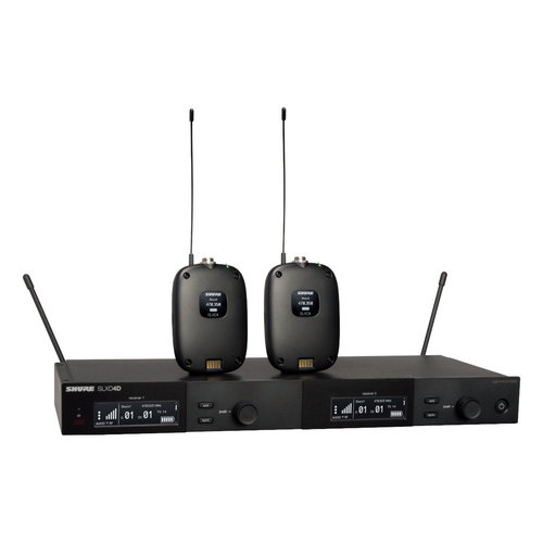 View Larger Image of Dual Combo System with (2) SLXD1 Bodypacks and SLXD4D Receiver