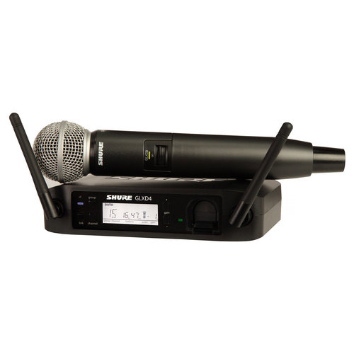 View Larger Image of GLXD24/SM58 Wireless Handheld Dynamic Microphone System