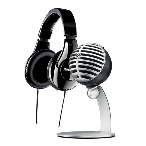 View Larger Image of MV5/A Condenser Microphone and SRH240A Headphones