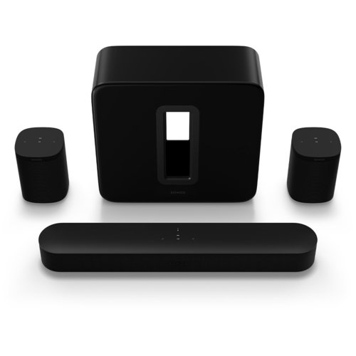 View Larger Image of 5.1 Surround Set with Beam, One SL, and Gen. 3 Sub (Black)