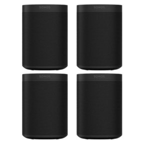 Four Room Set with Sonos One Gen 2 - Smart Speaker with Voice Control Built-In
