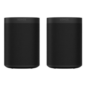 One Gen 2 Two Room Wireless Speaker Set with Voice Control Built-In