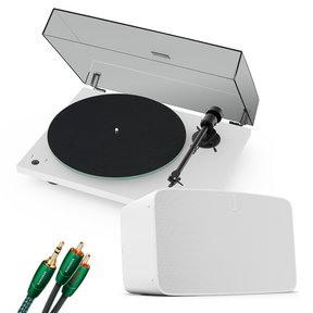 Vinyl Set with Five Wireless Speaker, Pro-Ject T1 Reference Turntable and 3.5mm Male to RCA Male Cable