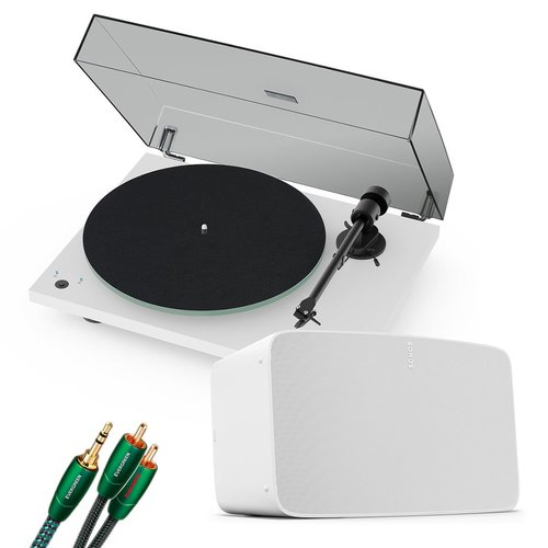View Larger Image of Vinyl Set with Five Wireless Speaker, Pro-Ject T1 Reference Turntable and 3.5mm Male to RCA Male Cable