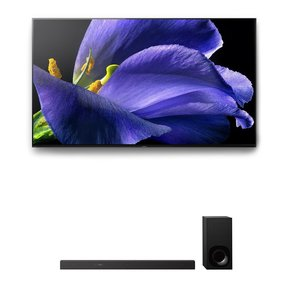"XBR-65A9G 65"" BRAVIA OLED 4K UHD Smart TV with HDR and HT-Z9F 3.1-Channel Dolby Atmos Sound Bar with Subwoofer"