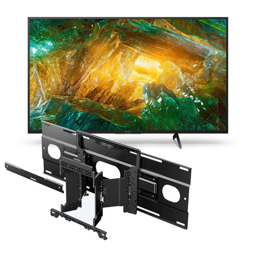 """View Larger Image of XBR-65X800H 65"""" BRAVIA 4K Ultra HD HDR Smart TV with SU-WL855 Ultra Slim Swivel TV Mount"""