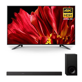 """XBR-65Z9F 65"""" MASTER Series BRAVIA 4K HDR UHD TV and HT-Z9F 3.1-Channel Dolby Atmos Sound Bar with Subwoofer"""