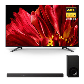 "XBR-75Z9F 75"" MASTER Series BRAVIA 4K HDR UHD TV and HT-Z9F 3.1-Channel Dolby Atmos Sound Bar with Subwoofer"