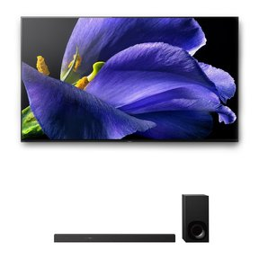 "XBR-77A9G 77"" BRAVIA OLED 4K UHD Smart TV with HDR and HT-Z9F 3.1-Channel Dolby Atmos Sound Bar with Subwoofer"