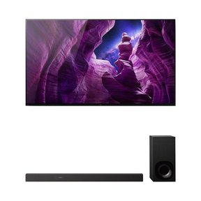 """XBR55A8H 55"""" BRAVIA OLED 4K Smart TV with HDR with HT-Z9F 3.1-Channel Dolby Atmos Sound Bar and Subwoofer"""