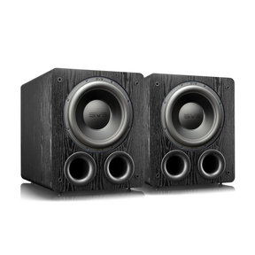 "PB-3000 13"" Subwoofer with 800W RMS, 2,500W Peak Power, Ported Cabinet - Pair (Premium Black Ash)"