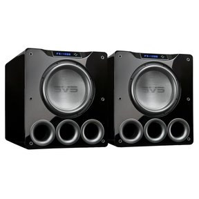 "PB-4000 13.5"" 1200W Ported Box Subwoofers - Pair (Piano Gloss Black)"