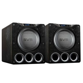 "PB16-Ultra 1500 Watt 16"" Ported Cabinet Subwoofers - Pair (Black Oak Veneer)"