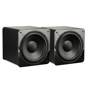 """SB-1000 300 Watt DSP Controlled 12"""" Ultra Compact Sealed Subwoofers - Pair (Piano Gloss Black)"""