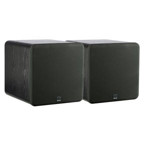 "SB-1000 300 Watt DSP Controlled 12"" Ultra Compact Sealed Subwoofers - Pair (Premium Black Ash)"