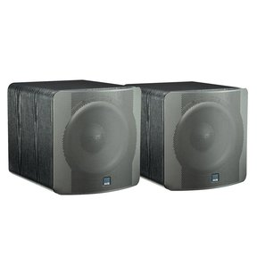 "SB-2000 500 Watt DSP Controlled 12"" Compact Sealed Subwoofers - Pair (Premium Black Ash)"