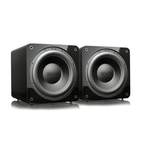 """SB-3000 13"""" Subwoofer with 800W RMS, 2,500W Peak Power, Sealed Cabinet - Pair (Piano Gloss Black)"""