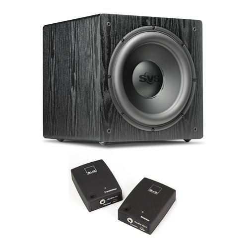 """View Larger Image of SB12-NSD 12"""" 400W Sealed Box Subwoofer (Premium Black Ash) with SoundPath Wireless Audio Adapter Kit"""