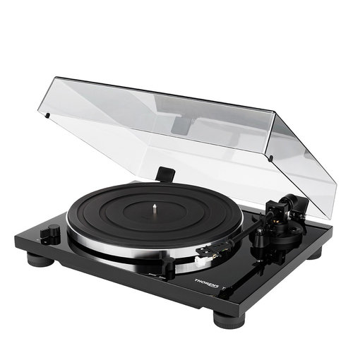 View Larger Image of TD 201 Manual Two-Speed Turntable with Built-In Preamp