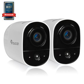 Wireless Outdoor Security Camera 2 Pack (White) - TWCK200WUTG-2