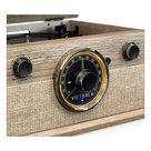 View Larger Image of 4-in-1 Cambridge Farmhouse Modern Bluetooth Turntable with FM Radio (Factory Certified Refurbished, Farmhouse Oatmeal)