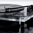 View Larger Image of Acrylic Bluetooth 40 watt Record Player with 2-Speed Turntable and Rechargeable Speakers (Clear)