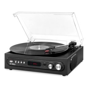 All-in-1 Bluetooth Record Player with Built in Speakers and 3-Speed Turntable